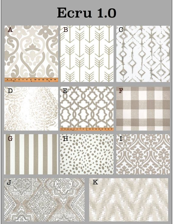 Custom Baby Crib Bedding  Design Your Own Bedding/Dorm Bedding  Glider  Cushions  ECRU 1.0, Beige, Ecru, Off White