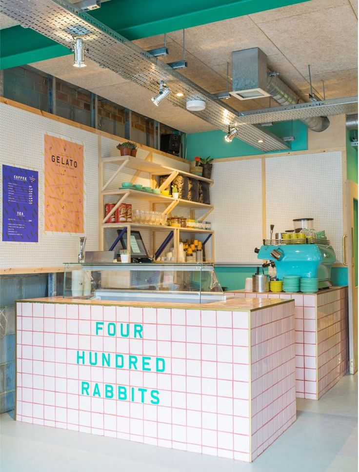 Four Hundred Rabbits| Restaurant interiors with pops of bright color in London