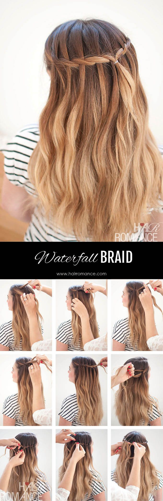 Waterfall Mermaid Braid Tutorial for Long Hair - Hair Romance