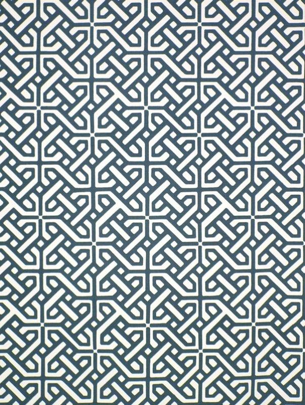 Rubik Indigo | James Dunlop Textiles | bench seat upholstery