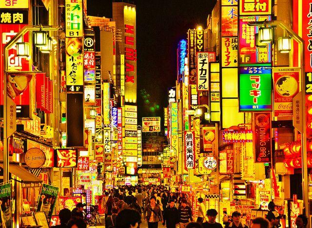 Dizzy night light in Kabukicho, Shinjuku