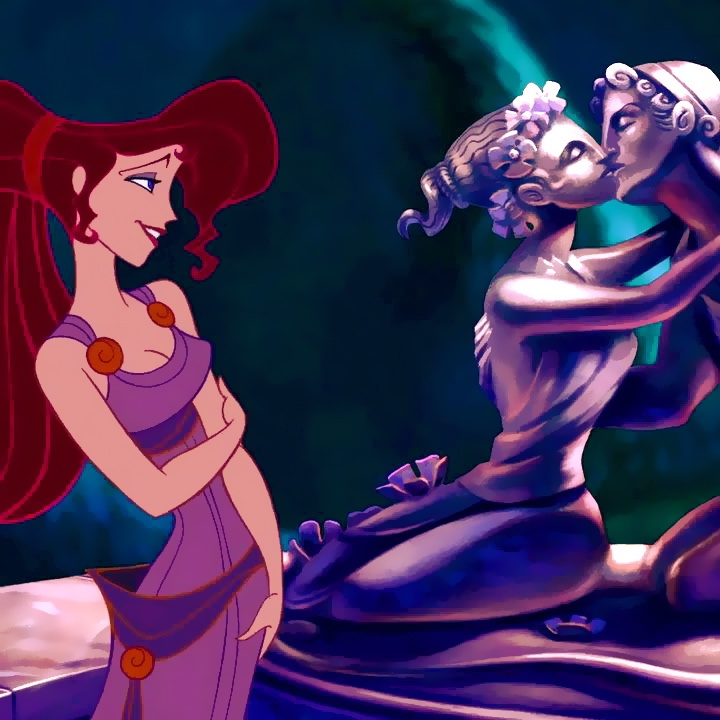 Megara, she is honestly one of my favorite Disney girls because she was one of the first strong feminine leads I ever saw