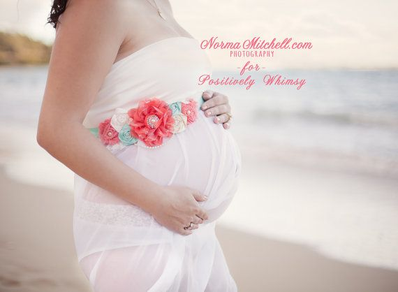 Hey, I found this really awesome Etsy listing at http://www.etsy.com/listing/125617859/maternity-sash-vintage-inspired-coral