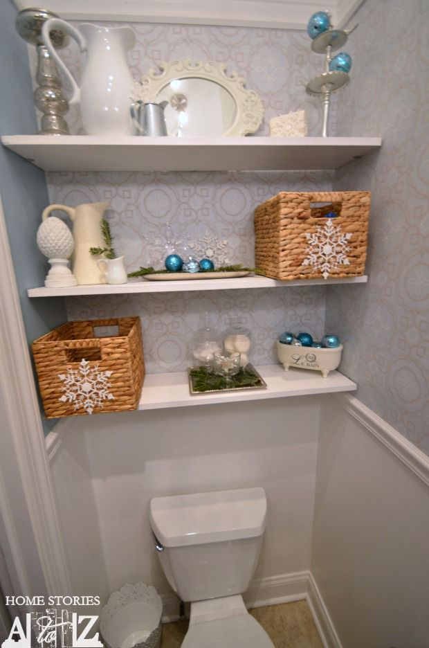 Styled bathroom shelves and also brown tips floating shelves above   – Unhas bonitas