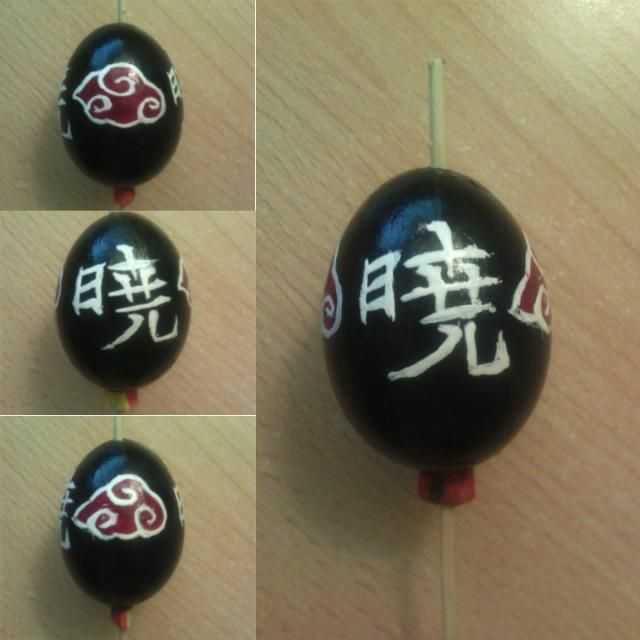 Akatsuki egg... I've painted it with nail polish ^^ (painted by me)