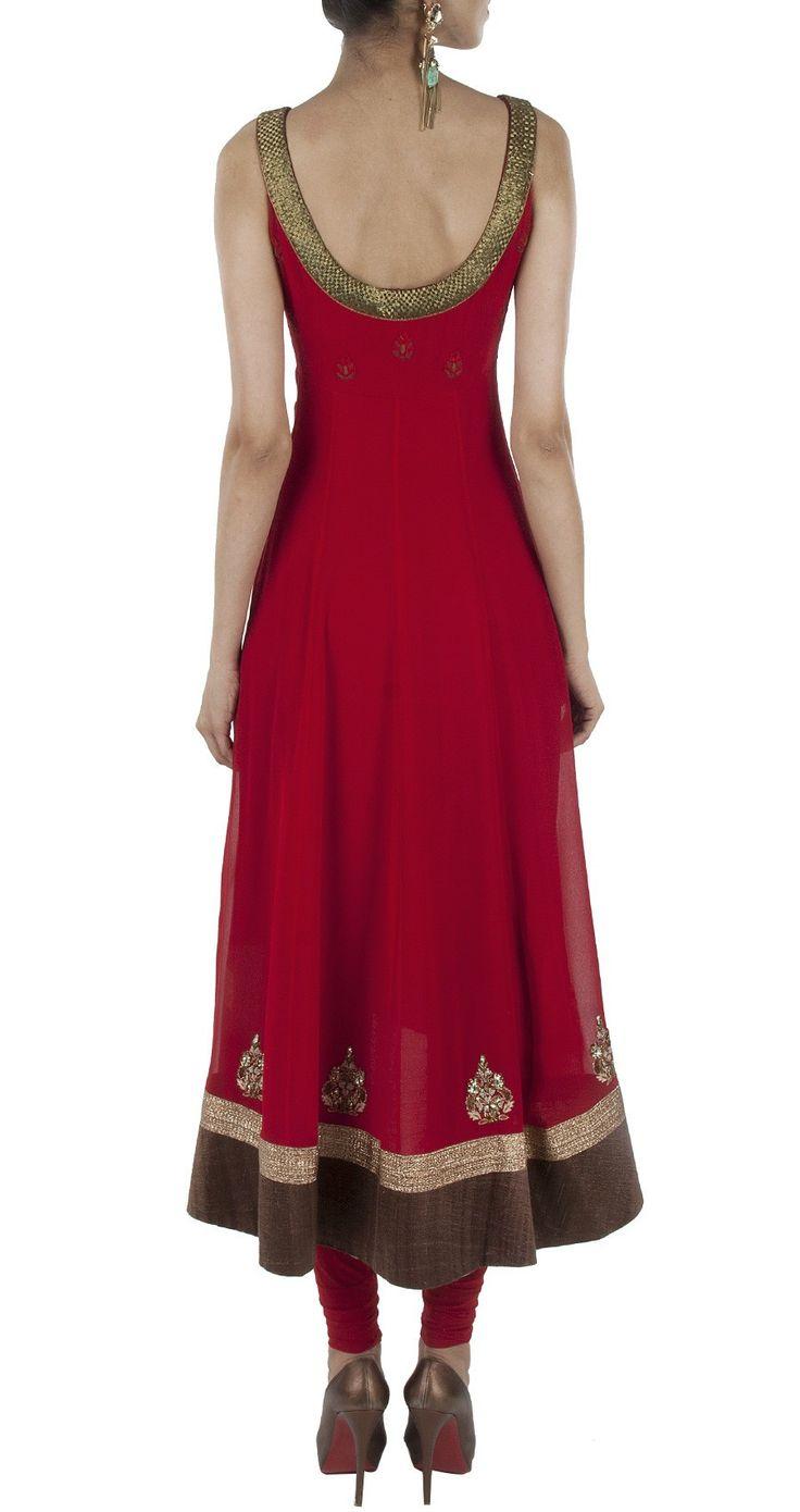 Dark red color anarkali suit – Panache Haute Couture http://panachehautecouture.co.in/collections/suits/products/dark-red-color-anarkali-suit