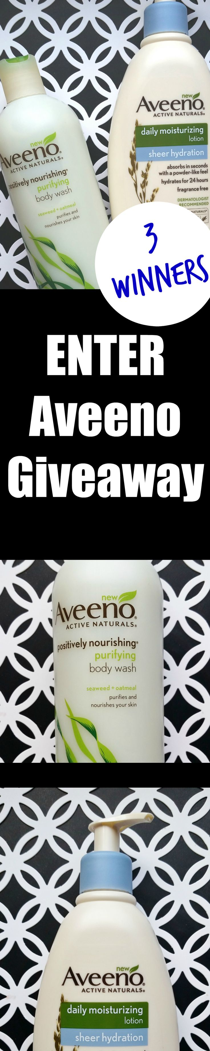 GIVEAWAY of Aveeno Active Naturals *NEW* Positively Nourishing Purifying Body Wash plus Moisturizing Sheer Hydration Lotion http://www.beautystat.com/site/skincare/review-aveeno-daily-moisturizing-lotion-aveeno-positively-nourishing-purifying-body-wash #ad (3 winners, ends May 21) #AveenoSheerHydration #AveenoPurifying