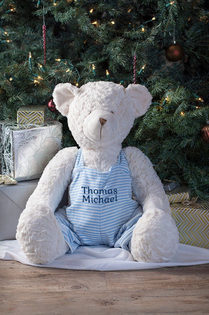Custom embroidered large teddy bear. Shop and personalize now.