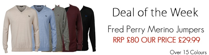 Box of Brands - Deal of the week; Fred Perry Jumpers @ £29.99