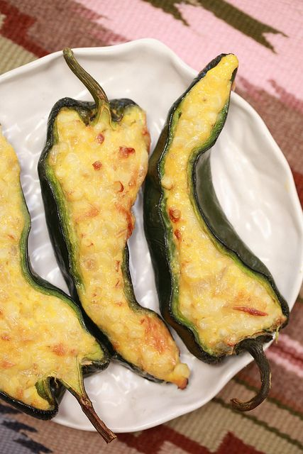 Celebrate Cinco de Mayo with Corn Pudding in Poblano Cups ~ !Salud!   Apron Strings