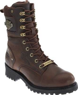Harley-Davidson Mens Lifestyle Elson Brown Leather Motorcycle Boots D93384