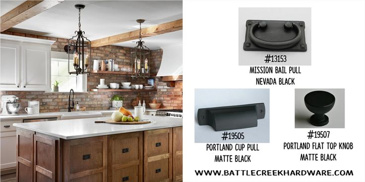 Fixer Upper Ivy House - Are you in love with this kitchen?  Hardware available from Battle Creek Hardware!