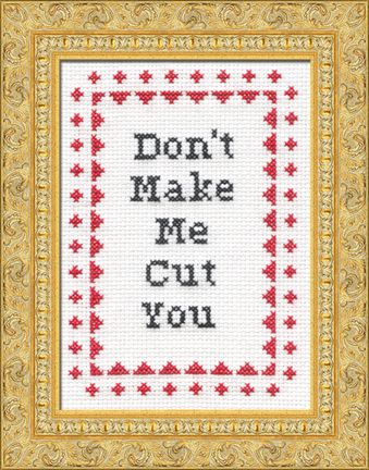WordsFunny Cross Stitch