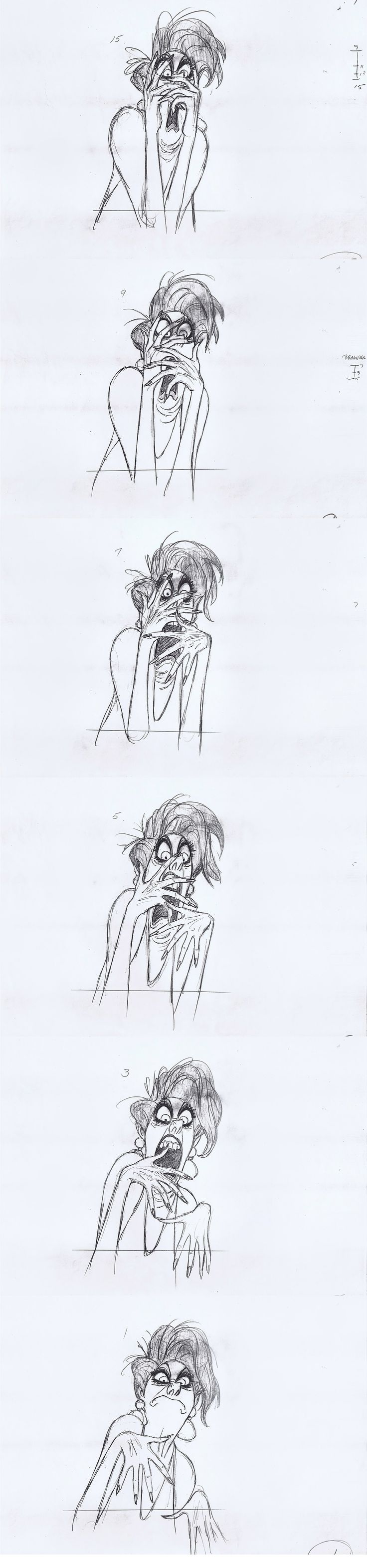 Milt Kahl - Medusa Rough Animation - The Rescuers ✤ || CHARACTER DESIGN REFERENCES | Find more at https://www.facebook.com/CharacterDesignReferences if you're looking for: #line #art #character #design #model #sheet #illustration #expressions #best #concept #animation #drawing #archive #library #reference #anatomy #traditional #draw #development #artist #pose #settei #gestures #how #to #tutorial #conceptart #modelsheet #cartoon #female #lady #woman #girl || ✤