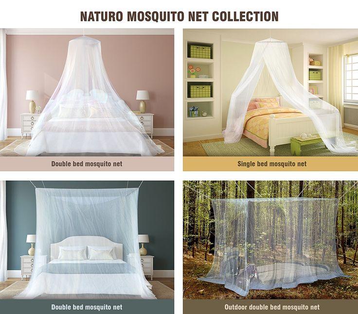 #1 Outdoor By NATURO-The Mosquito Net-Zanzariera da letto più A baldacchino-Repellente per insetti Malaria Zika-Free Bonus: 2 Bracciali repellenti per insetti, un Kit per appendere, borsa per il trasporto con lettori di E-Book: Amazon.it: Sport e tempo libero
