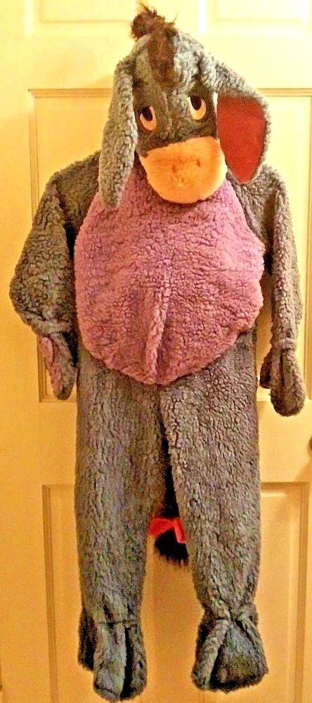 ede4771a668e Disney Winnie the Pooh Eeyore Halloween Costume 1 Piece Full Body Kids Size  4-6  Disney  OnePiece