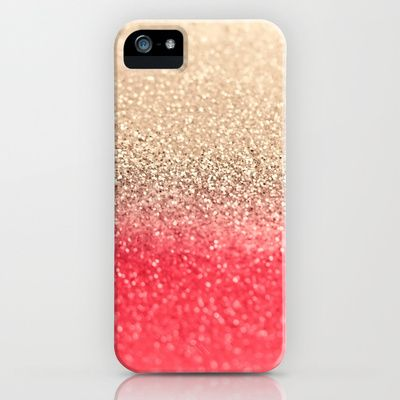 GATSBY CORAL GOLD iPhone  iPod Case by Monika Strigel - $35.00