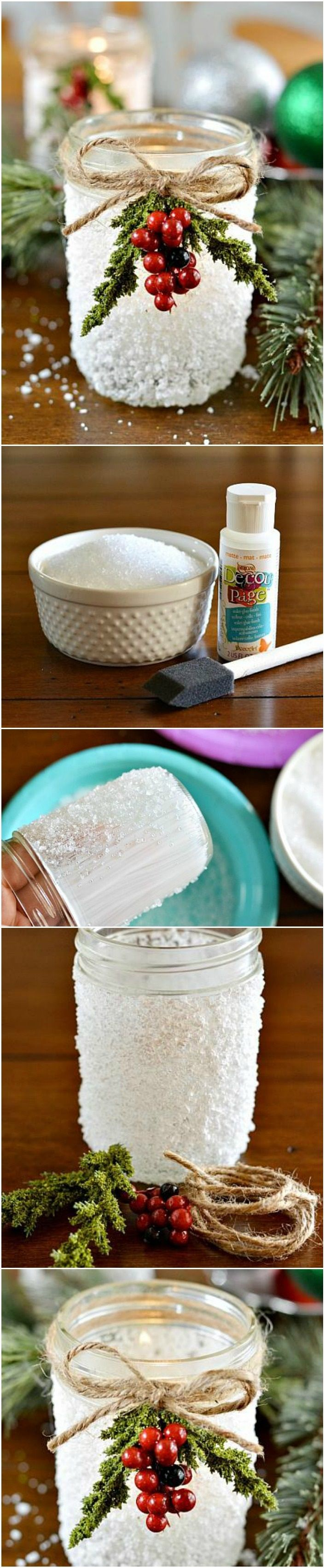 Items needed: Americana Decou-Page (Glue-Sealer-Finish) 2oz – Americana Decou-Page Matte Epsom Salt Mason Jars Brush Optional: twine, Christmas picks More info and instructions about this great tutorial you can find in the source url - above the photo. diyfuntips.com is a collection of the best and most creative do it yourself projects, tips and tutorials. […]