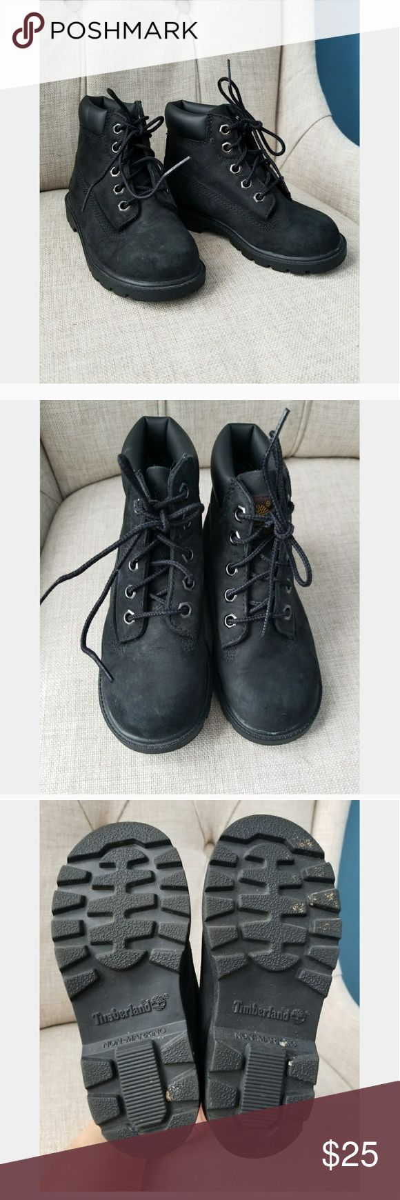 Toddler Timberland Boots Black. EUC. No major flaws. Worn a handful of times before they got too small. Timberland Shoes Boots