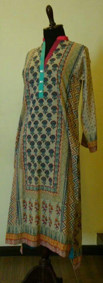 Block printed dress.
