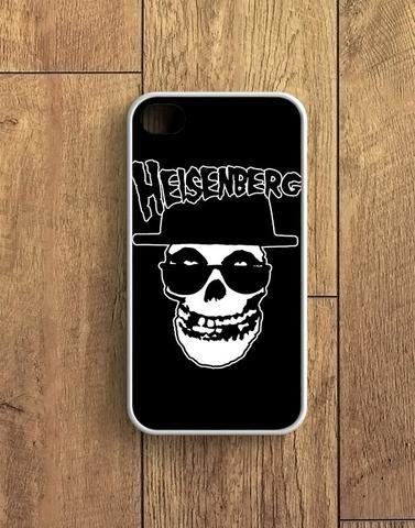 Black Heisenberg Skull Misfits iPhone 4   4S Case