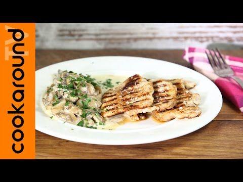 Lonza di maiale con i funghi / Ricetta secondi di carne - YouTube