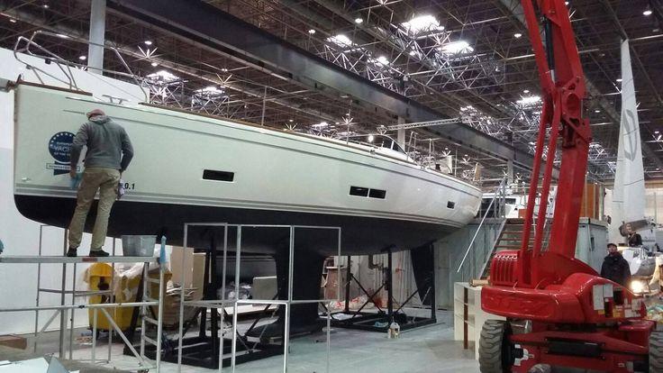 Messe #Düsseldorf: Halle 16: so viele Boote wie seit 10 Jahren nicht mehr und wir waren mitten drinnen. Sunbeam Yachts bedankt sich für euer Kommen Wir zeigten die #Sunbeam 22.1, 40.1 und 42.1.