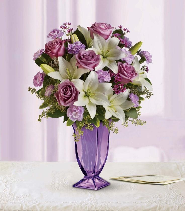 PinItTransformIt Lavender Vase with fresh flowers so