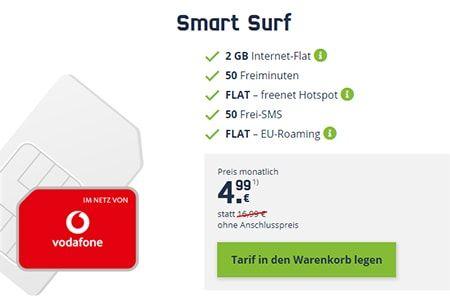 2gb Vodafone Lte Smart Surf Fur 4 99 Surfen Handyvertrag Internet