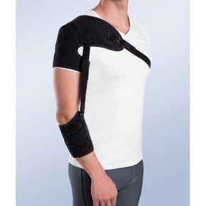 SOPORTE DE HOMBRO CON CINCHA DE ANTEBRAZO - REF: 94304D (DRCHA) / 94304I (IZQDA): Lesiones neurológicas de miembro superior, lesiones del plexo-branquial con parálisis de hombro y brazo, hemiplejías producidas por un ictus, lesiones de los nervios periféricos y traumatismos cerebrales, hombro doloroso e inestable y para la subluxación de hombro.