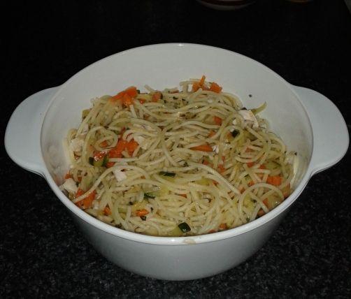 Espaguetis con verduras para #Mycook http://www.mycook.es/receta/espaguetis-con-verduras/
