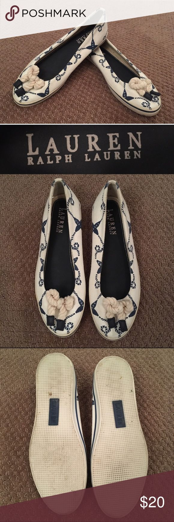 Lauren by Ralph Lauren Nautical Shoes These Lauren by Ralph Lauren boat shoes have been gently used with little wear and tear. Ask if you have any questions! Lauren Ralph Lauren Shoes Sneakers