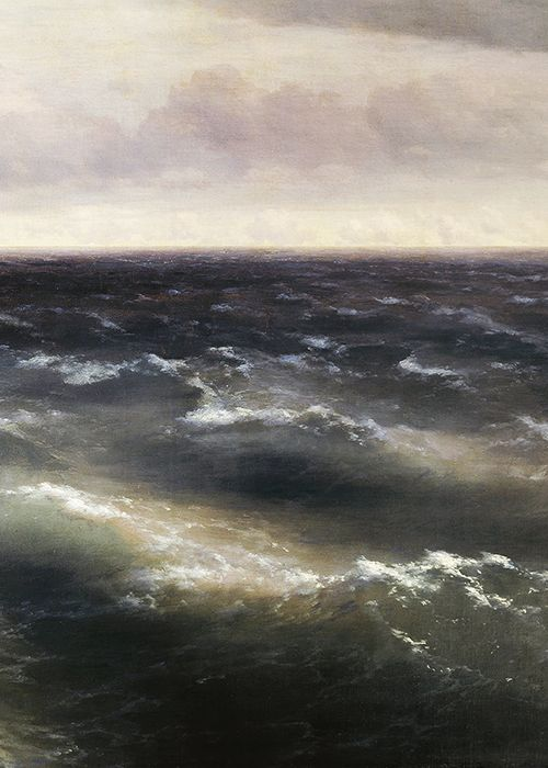 The Black Sea (detail; 1881) | Ivan Aivazovsky