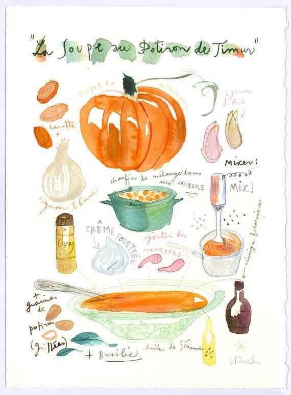 Pumpkin soup recipe graphics