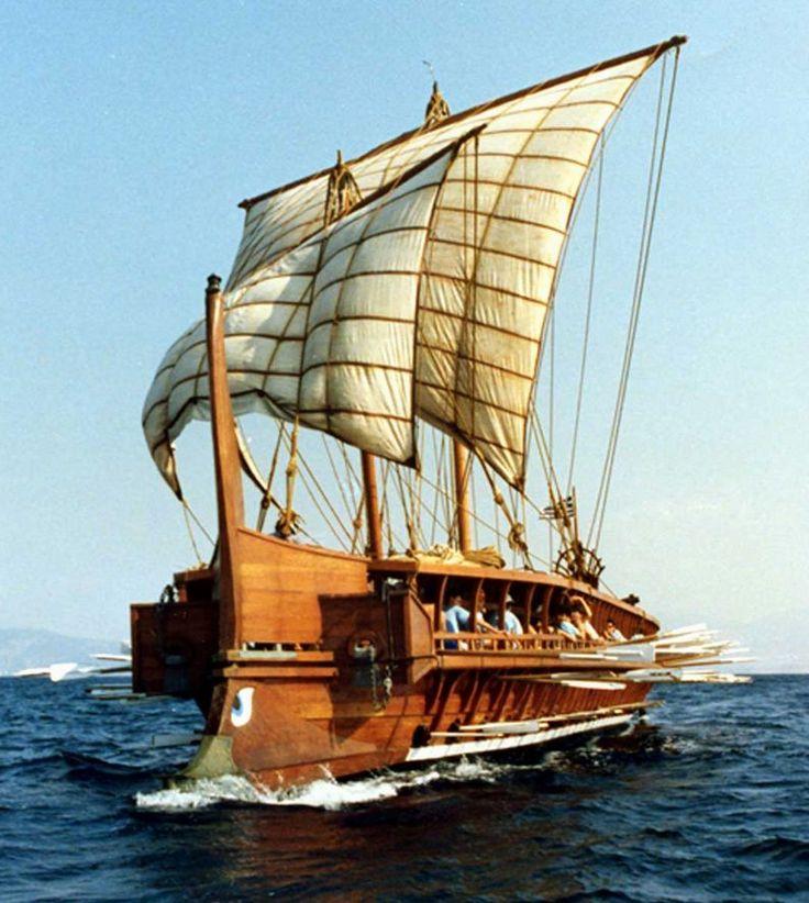 Greek Trireme Sailing Ship