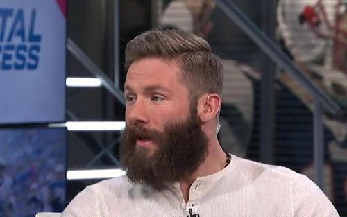 "New England Patriots wide receiver Julian Edelman guesses beards around sports with the ""NFL Total Access"" crew."