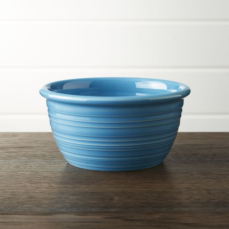 Farmhouse Aqua Cereal Bowl - Crate and Barrel