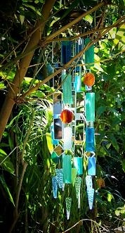 Stained glass windchime