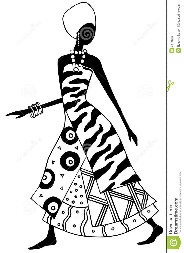 woman african line art - Google Search