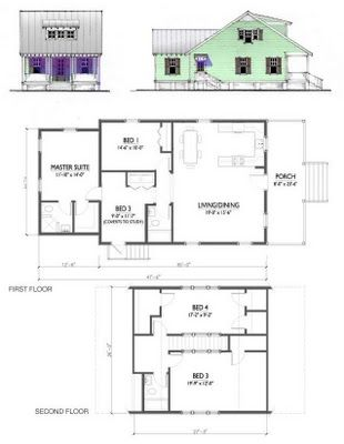 katrina cottage plan for our homesteading cottage it expands as space is needed such - Katrina Cottage Plans