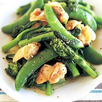 菜の花とはまぐりの温サラダ | 広沢京子さんのあえものの料理レシピ | プロの簡単料理レシピはレタスクラブネット