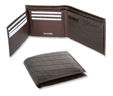 classic genuine crocodile leather wallet from Via La Moda,  2008