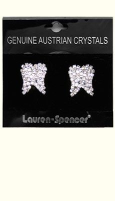 Dental Jewelry: Large Crystal Tooth Earrings   $20