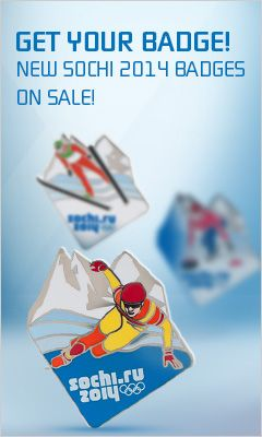 Olympic Pin badges buy in the official online store of the Sochi Olympics 2014