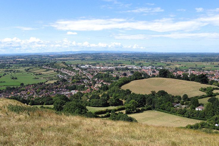 A view of Glastonbury from the Tor.