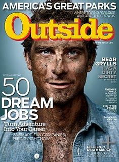 Outside Magazine, May 2010, featuring television personality and survivalist Bear Grylls