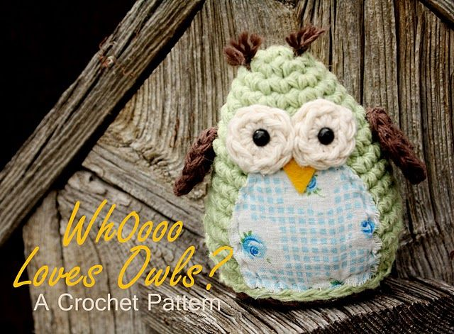 Cute crochet owl