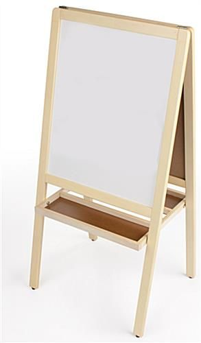 Wooden whiteboard easel for mini lessons, introductions etc