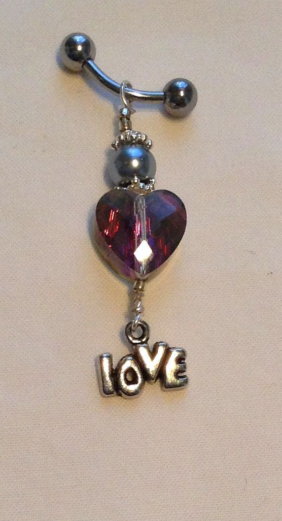 Sparkling One of a Kind Heart Charm Bling by BitchinBling on Etsy