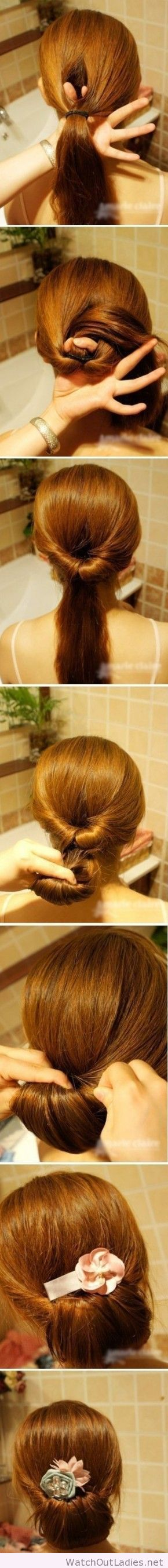 Wonderful updo tutorial with accessories